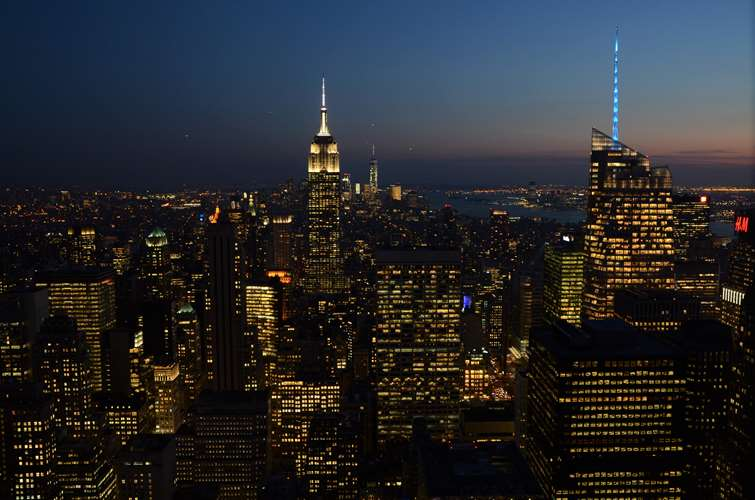 NEW YORK - L'Empire State Building vu depuis le Top of the Rock